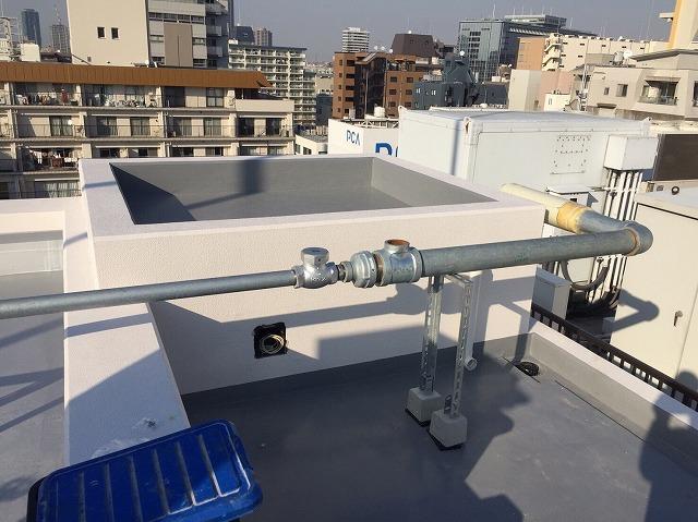 マンション 連結送水管 新設2